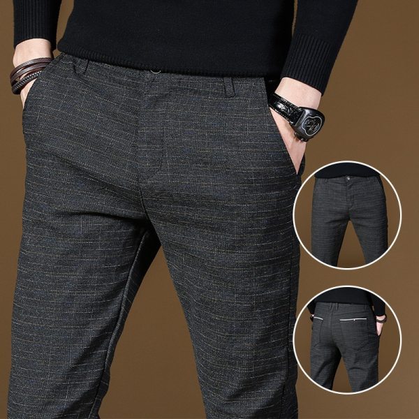 2019 Fashion High Quality Men Pants Spring Autumn Men Pants Trousers Male Classic Business Casual Trousers 2 2019 Fashion High Quality Men Pants Spring Autumn Men Pants Trousers Male Classic Business Casual Trousers Full length