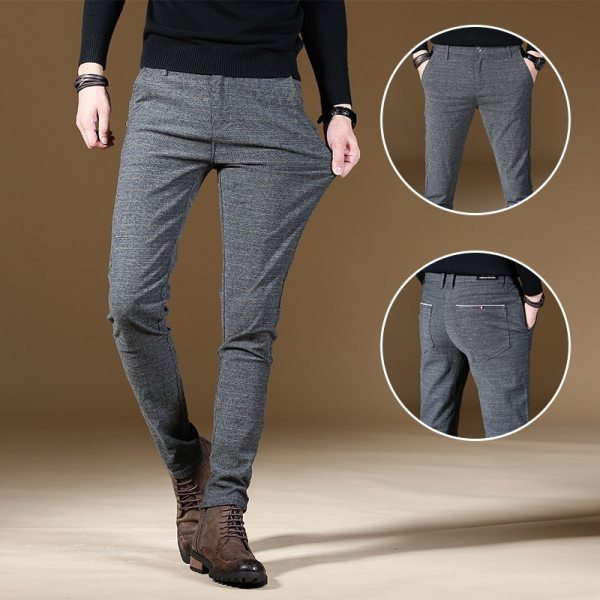 2019 Fashion High Quality Men Pants Spring Autumn Men Pants Trousers Male Classic Business Casual Trousers 2019 Fashion High Quality Men Pants Spring Autumn Men Pants Trousers Male Classic Business Casual Trousers Full length