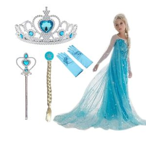 2019 New Elsa Dress Girls Summer Dress Princess Anna Cosplay Costume Dresses For Girl Princess Vestidos 1 Innrech Market.com