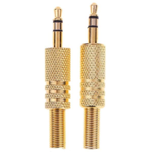 2Pcs Stereo 3 5mm 1 8in Headphone Earphone DIY Male Audio Jack Plug Solder Connectors for 2Pcs Stereo 3.5mm 1/8in Headphone Earphone DIY Male Audio Jack Plug Solder Connectors for Computers Laptops Tablets MP3 Hot Sale