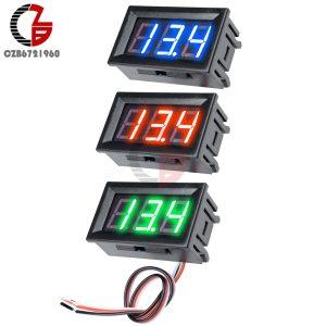 3 Wire 0 56 LED Digital Voltmeter Voltage Meter Car Motorcycle Volt Tester Detector DC 12V Innrech Market.com