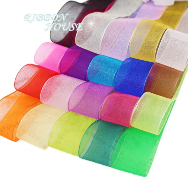 50 yards roll Organza Ribbon Wholesale gift wrapping decoration Christmas silk ribbons lace fabric 12 (50 yards/roll) Organza Ribbon Wholesale gift wrapping decoration Christmas silk ribbons lace fabric 12/15/20/25/40/50mm
