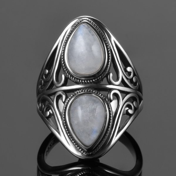 925 Sterling Silver Rings Original Design Vintage Natural Rainbow Moonstone Ring For Women Men Female Fine 1 925 Sterling Silver Rings Original Design Vintage Natural Rainbow Moonstone Ring For Women Men Female Fine Jewelry Gifts
