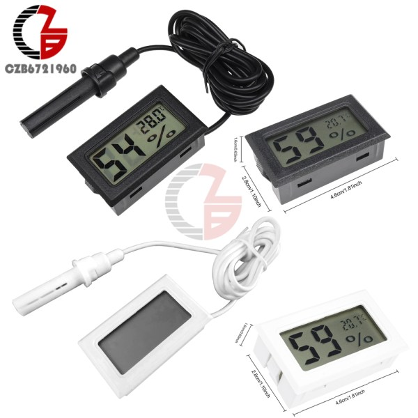Accurate Indoor Room LCD Digital Thermometer Hygrometer Thermo Hygrometer Temperature Humidity Meter Moisture Measurment Monitor Accurate Indoor Room LCD Digital Thermometer Hygrometer Thermo-Hygrometer Temperature Humidity Meter Moisture Measurment Monitor