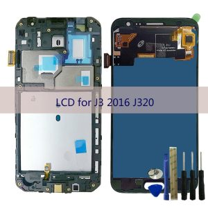 Adjust Brightness screen For Samsung Galaxy J3 2016 J320 J320F J320H J320FN J320M DS LCD Display Innrech Market.com
