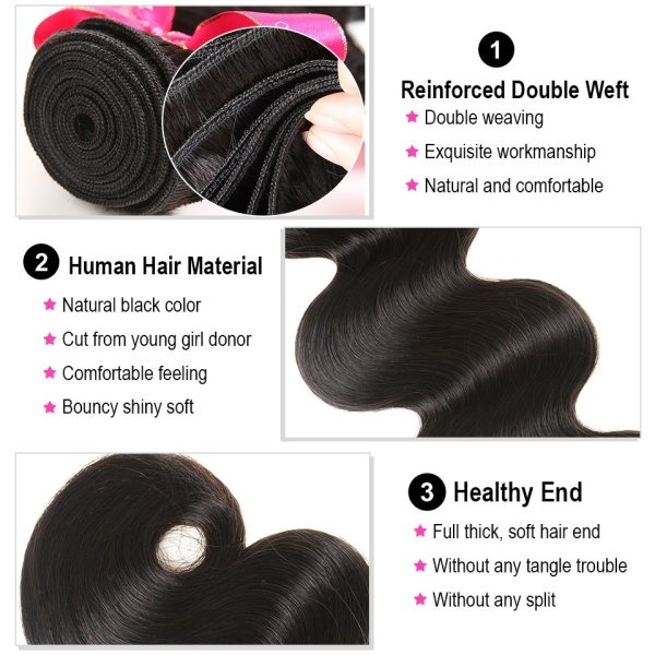 AliPearl Brazilian Body Wave 3 Bundles With Frontal Closure Brazilian Hair Weave Bundles With Frontal 13x4 2 AliPearl Brazilian Body Wave 3 Bundles With Frontal Closure Brazilian Hair Weave Bundles With Frontal 13x4 Remy Hair Extension