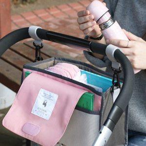 Baby Stroller Bag Nappy Diaper Mummy Bag Hanging Basket Storage Organizer Baby Travel Feeding Bottle Bag Innrech Market.com