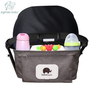 Baby Stroller Organizer Bag with Tissue Pocket and Cup Holders Extra Large Storage Space Baby Stroller Innrech Market.com
