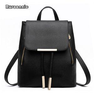 Backpack Women Leather Backpacks High Quality Pu Bagpack Mochila Feminina Rucksack Female School Bags Innrech Market.com