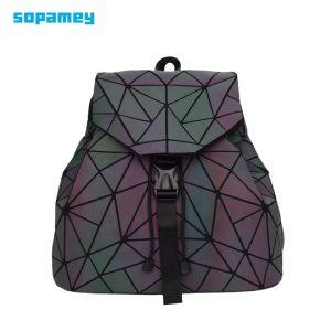 Bao Women Backpack Luminous Drawstring Female Daily Backpack Geometry Backpacks Folding School Bags For Teenage Girls Innrech Market.com