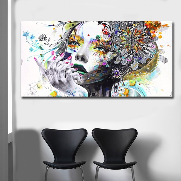 Beautiful Flower Girl Painting Canvas Wall Art Posters Print Pictures For Bedroom Home Decoration No Frame 2 Beautiful Flower Girl Painting Canvas Wall Art Posters Print Pictures For Bedroom Home Decoration No Frame Discount Dropshiping