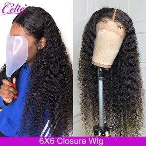 Celie Hair Deep Wave Wig 6x6 Lace Closure Human Hair Wigs Pre Plucked Glueless Brazilian Lace Innrech Market.com
