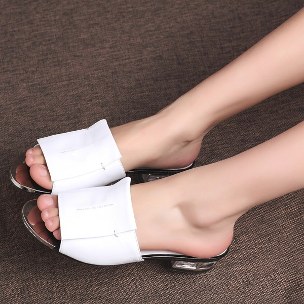 FEDONAS 2019 New Women Summer High Quality Square High Heels Pumps Genuine Leather Shoes Woman Sandals 5 FEDONAS 2019 New Women Summer High Quality Square High Heels Pumps Genuine Leather Shoes Woman Sandals Open Toe Ladies Slippers