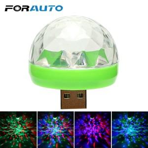FORAUTO Car LED Decorative Lamp Mini RGB Atmosphere Light Auto Interior LED USB Club Disco Magic Innrech Market.com