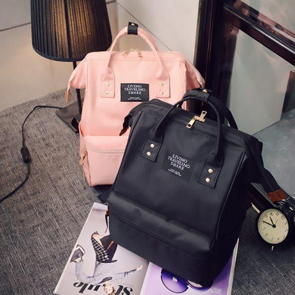 Fashion Backpack High capacity Knapsack Women Backpack Pure Color Teenager Backpack Female Bag Mochila Bagpack Shoulder Fashion Backpack High-capacity Knapsack Women Backpack Pure Color Teenager Backpack Female Bag Mochila Bagpack Shoulder Bag 2019