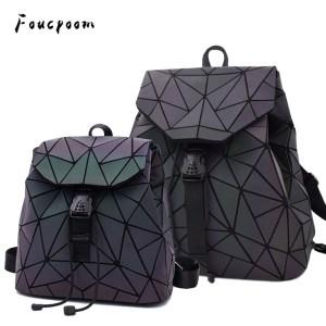 Fashion Women Luminous Backpacks Female Shoulder Bag Girl Daily Backpack Geometry School Folding Bag Travel School Innrech Market.com