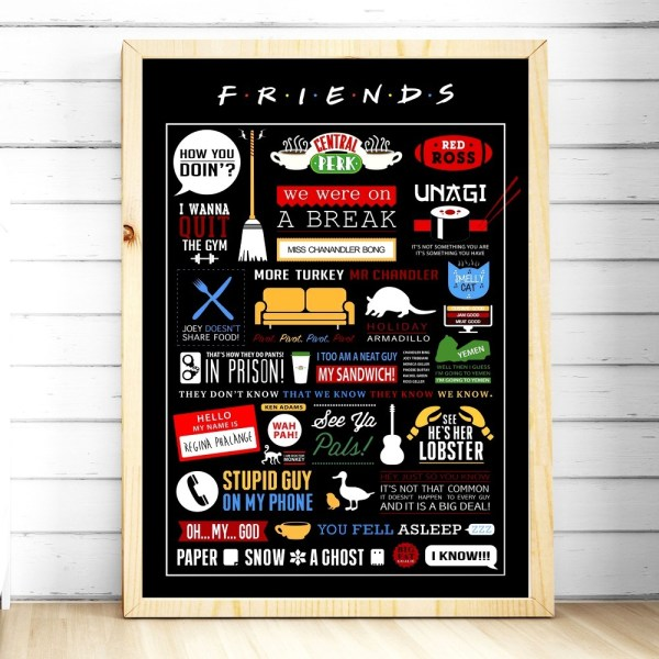 Friends TV Show Classic Quote Posters and Prints Wall art Decorative Picture Canvas Painting For Living 3 Friends TV Show Classic Quote Posters and Prints Wall art Decorative Picture Canvas Painting For Living Room Home Decor Unframed