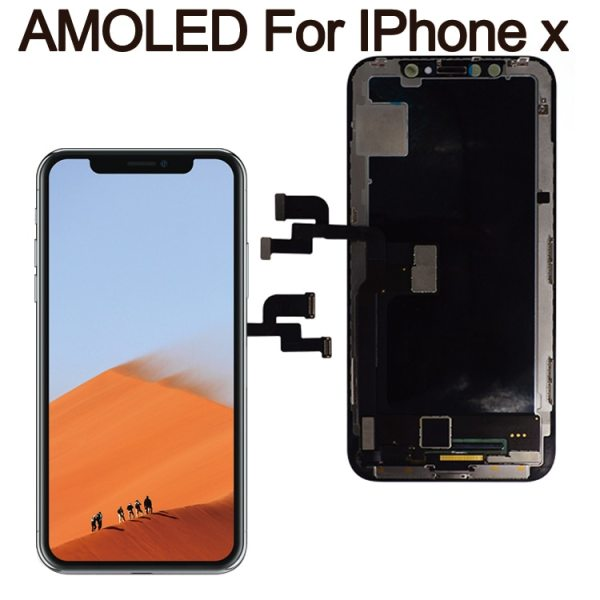 Grade For iPhone X OLED LCD Display GX For IPhone XS AMOLED oled OEM Touch Screen Grade For iPhone X OLED LCD Display GX For IPhone XS AMOLED oled OEM Touch Screen With Digitizer Replacement Assembly Parts Black