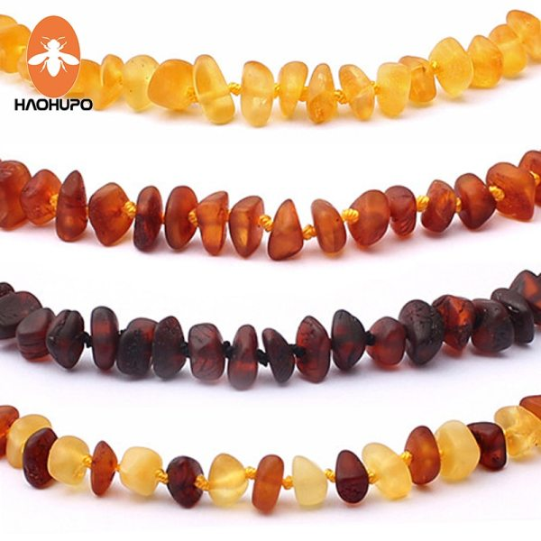 HAOHUPO Raw Unpolished Amber Bracelet Necklace Baltic Natural Amber Beads Baby Jewelry for Boy Girls Infant HAOHUPO Raw Unpolished Amber Bracelet/Necklace Baltic Natural Amber Beads Baby Jewelry for Boy Girls Infant Teething Child Gifts