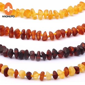HAOHUPO Raw Unpolished Amber Bracelet Necklace Baltic Natural Amber Beads Baby Jewelry for Boy Girls Infant Innrech Market.com