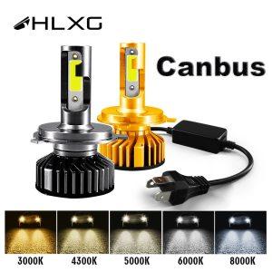 HLXG Mini Canbus lampada H4 H7 LED Car Headlight 12V 10000LM 4300K 6000K 8000K Lamp H3 Innrech Market.com