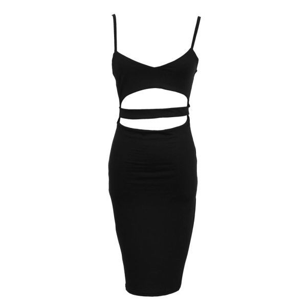 Hot Sexy Women Summer Slim Bodycon Hollow Out Skinny Sleeveless Evening Party Club Solid Strappy V 5 Hot Sexy Women Summer Slim Bodycon Hollow Out Skinny Sleeveless Evening Party Club Solid Strappy V-Neck Short Mini Dress