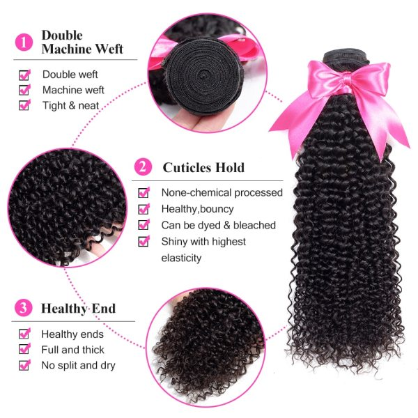 ISEE HAIR Mongolian Kinky Curly Bundles With Frontal 13 4 Lace Frontal With Bundles Remy Human 2 ISEE HAIR Mongolian Kinky Curly Bundles With Frontal 13*4 Lace Frontal With Bundles Remy Human Hair Bundles With Frontal