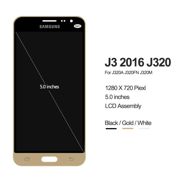 J320F LCD For Samsung Galaxy J3 2016 J320 LCD J320A J320FN J320M LCD Display With Touch 1 J320F LCD For Samsung Galaxy J3 2016 J320 LCD J320A J320FN J320M LCD Display With Touch Screen Digitizer Assembly Free shipping