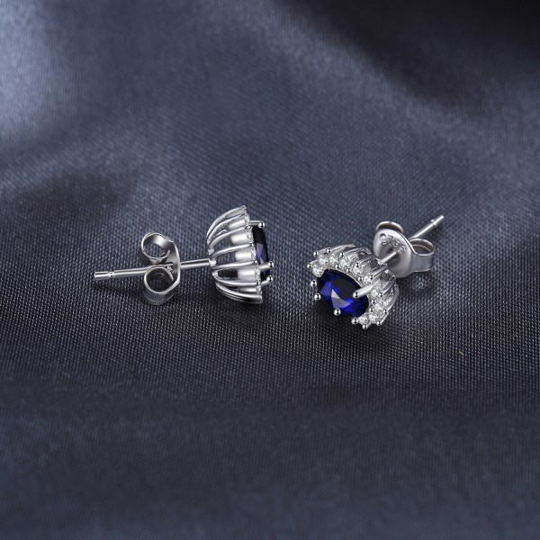 JPalace Diana Created Blue Sapphire Stud Earrings 925 Sterling Silver Earrings For Women Korean Earings Fashion 1 JPalace Diana Created Blue Sapphire Stud Earrings 925 Sterling Silver Earrings For Women Korean Earings Fashion Jewelry 2019