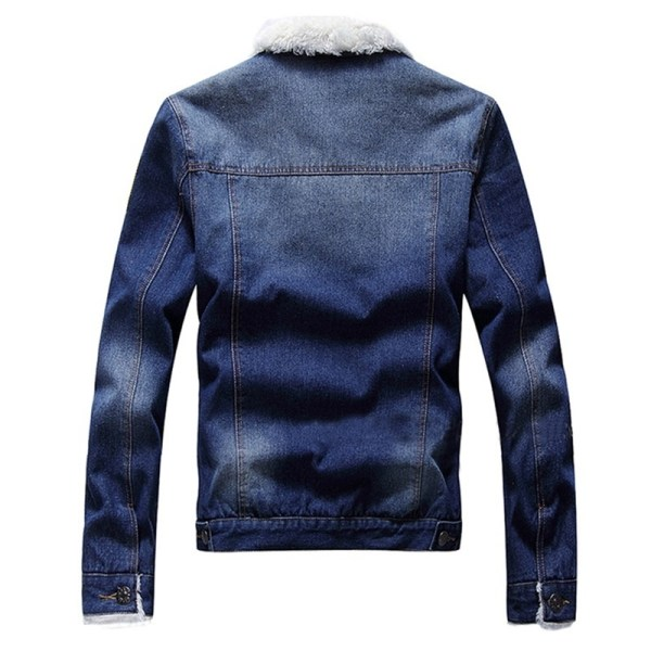 LBL Fleece Inner Denim Jacket Men Winter Fashion Slim Trendy Warm Thick Mens Jean Jackets Outwear 3 LBL Fleece Inner Denim Jacket Men Winter Fashion Slim Trendy Warm Thick Mens Jean Jackets Outwear Motorcycle Coats Cowboy 2019