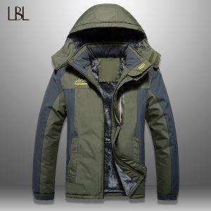 LBL Winter Men Jackets Thick Mens Hiking Jacket Casual Outwear Warm Hooded Coat Man Windproof Overcoat Innrech Market.com