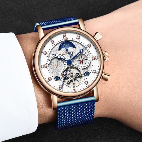 LIGE Gift Mens Watches Brand Luxury Fashion Tourbillon Automatic Mechanical Watch Men Stainless Steel watch Relogio 5 LIGE Gift Mens Watches Brand Luxury Fashion Tourbillon Automatic Mechanical Watch Men Stainless Steel watch Relogio Masculino