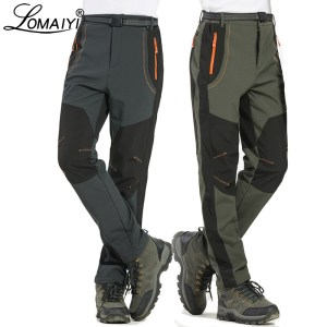 LOMAIYI 5XL Men s Warm Winter Pants Men Fleece Lining Cargo Pants Mens Waterproof Trousers Male Innrech Market.com