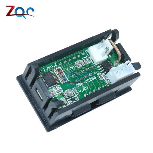"""Mini Digital Voltmeter Ammeter DC 100V 10A Panel Amp Volt Voltage Current Meter Tester Detector 0 2 Mini Digital Voltmeter Ammeter DC 100V 10A Panel Amp Volt Voltage Current Meter Tester Detector 0.56"""" Dual LED Display Auto Car"""