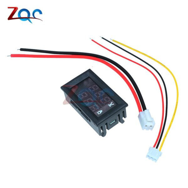 """Mini Digital Voltmeter Ammeter DC 100V 10A Panel Amp Volt Voltage Current Meter Tester Detector 0 3 Mini Digital Voltmeter Ammeter DC 100V 10A Panel Amp Volt Voltage Current Meter Tester Detector 0.56"""" Dual LED Display Auto Car"""