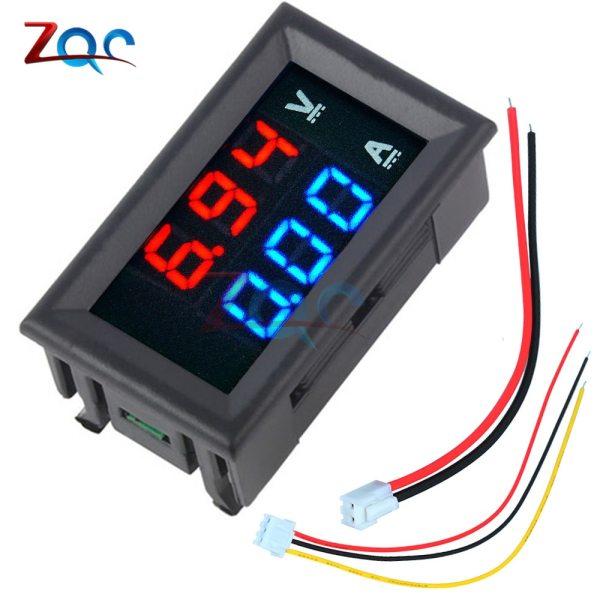 """Mini Digital Voltmeter Ammeter DC 100V 10A Panel Amp Volt Voltage Current Meter Tester Detector 0 Mini Digital Voltmeter Ammeter DC 100V 10A Panel Amp Volt Voltage Current Meter Tester Detector 0.56"""" Dual LED Display Auto Car"""