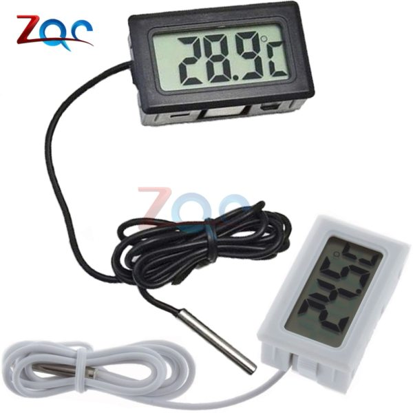 Mini LCD Digital Thermometer for Freezer Temperature 50 110 degree Refrigerator Fridge Thermometer indoor outdoor Probe 1 Mini LCD Digital Thermometer for Freezer Temperature -50~110 degree Refrigerator Fridge Thermometer indoor outdoor Probe 1M 2M
