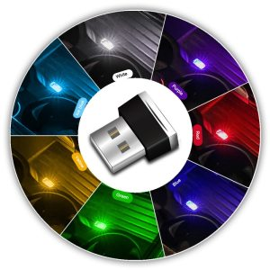 Mini LED Car Light Auto Interior USB Atmosphere Light Plug and Play Decor Lamp Emergency Lighting Innrech Market.com