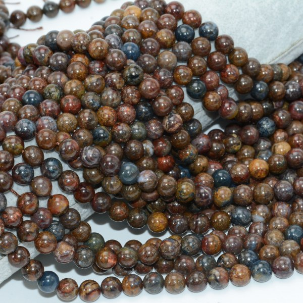 Natural Pietersite Stone Loose Round Beads 8mm 10mm 2 Natural Pietersite Stone Loose Round Beads 8mm / 10mm