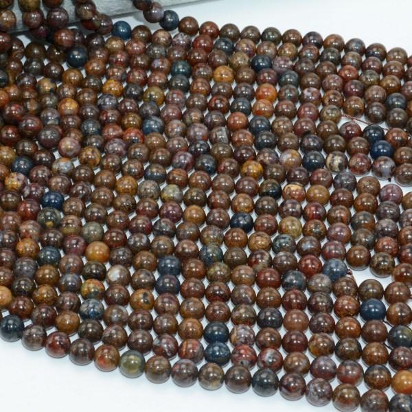 Natural Pietersite Stone Loose Round Beads 8mm 10mm Natural Pietersite Stone Loose Round Beads 8mm / 10mm
