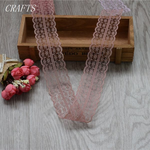 New 10 yards of beautiful lace ribbon 4 5 cm wide DIY Clothing Accessories floral accessories 4 New! 10 yards of beautiful lace ribbon, 4.5 cm wide, DIY Clothing / Accessories / floral accessories, etc.