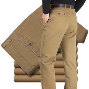 New Design Autumn Casual Men Pants Cotton Loose Male Pant high waist Straight Trousers Fashion Business Innrech Market.com