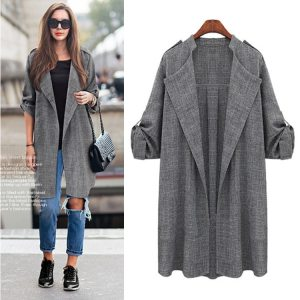 New Fashion Autumn Spring Women Jackets Open Front Coat Long Cloak Jackets Overcoat Waterfall Cardigan Female Innrech Market.com