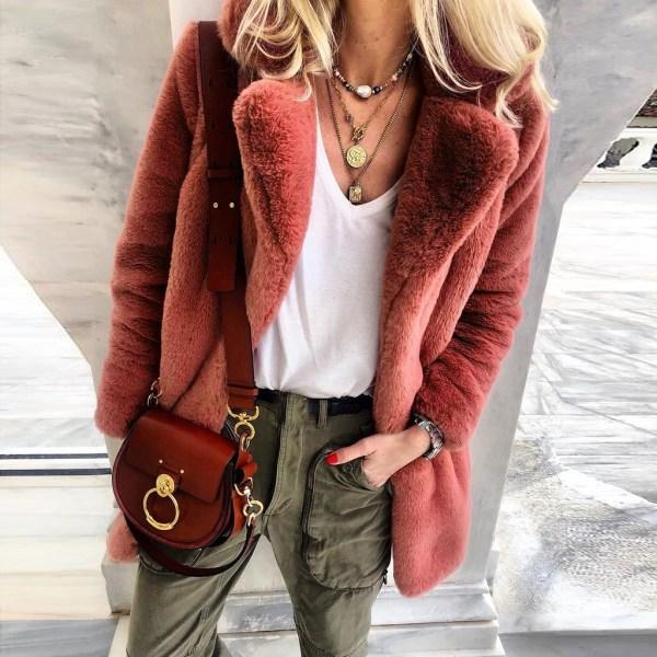 New Winter Womens Faux Fur Long Outwear Coat Warm Fleece Thick Jacket Ladies Long Plus Size 1 New Winter Womens Faux Fur Long Outwear Coat Warm Fleece Thick Jacket Ladies Long Plus Size Cardigan Overcoat