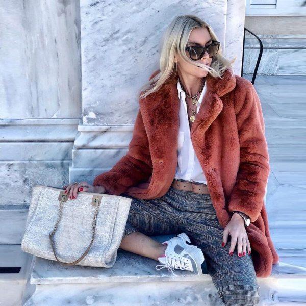 New Winter Womens Faux Fur Long Outwear Coat Warm Fleece Thick Jacket Ladies Long Plus Size 2 New Winter Womens Faux Fur Long Outwear Coat Warm Fleece Thick Jacket Ladies Long Plus Size Cardigan Overcoat