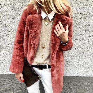 New Winter Womens Faux Fur Long Outwear Coat Warm Fleece Thick Jacket Ladies Long Plus Size Innrech Market.com