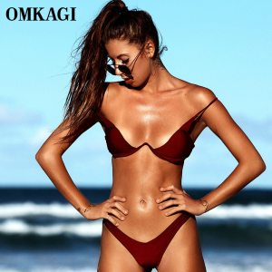 OMKAGI Brand Brazilian Bikini 2019 Swimsuit Swimwear Women Sexy Push Up Swimming Bathing Suit Beachwear Underwire Innrech Market.com