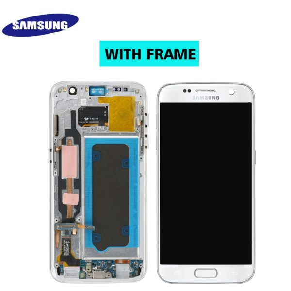 ORIGINAL 5 1 SUPER AMOLED LCD For Samsung Galaxy S7 G930 SM G930F G930F LCD Display 2 ORIGINAL 5.1'' SUPER AMOLED LCD For Samsung Galaxy S7 G930 SM-G930F G930F LCD Display With Touch Screen Digitizer Replacement