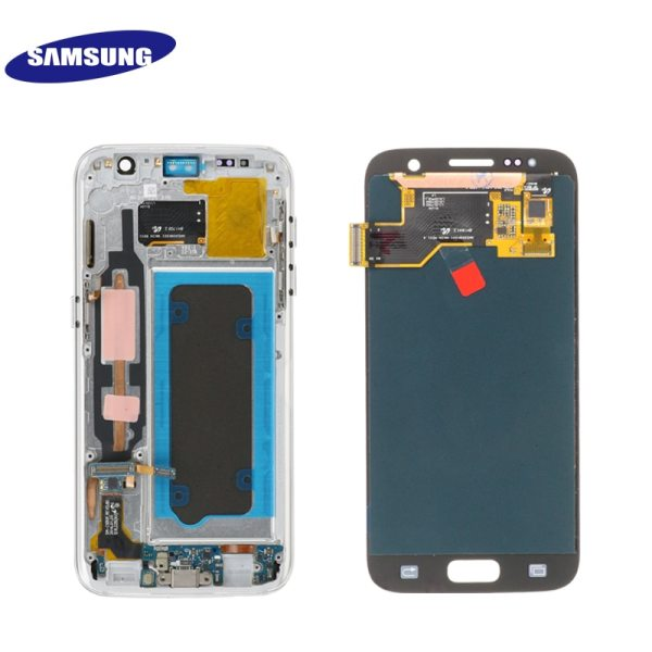 ORIGINAL 5 1 SUPER AMOLED LCD For Samsung Galaxy S7 G930 SM G930F G930F LCD Display 4 ORIGINAL 5.1'' SUPER AMOLED LCD For Samsung Galaxy S7 G930 SM-G930F G930F LCD Display With Touch Screen Digitizer Replacement