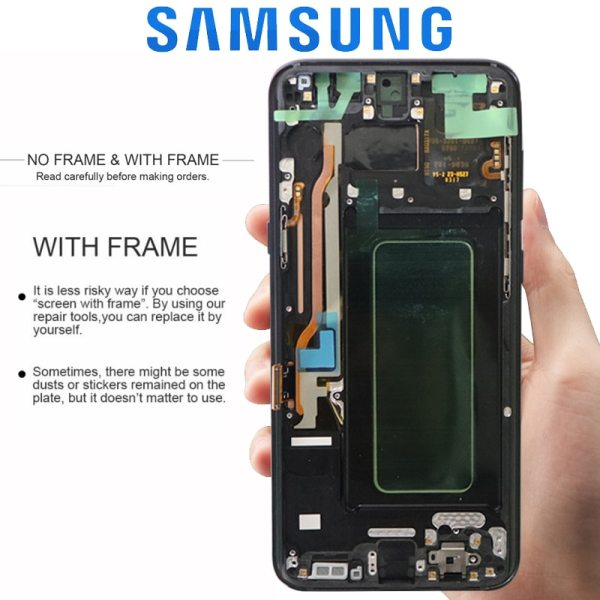 ORIGINAL SUPER AMOLED S8 LCD with Frame for SAMSUNG Galaxy S8 G950 G950F Display S8 Plus 1 ORIGINAL SUPER AMOLED S8 LCD with Frame for SAMSUNG Galaxy S8 G950 G950F Display S8 Plus G955 G955F Touch Screen Digitizer